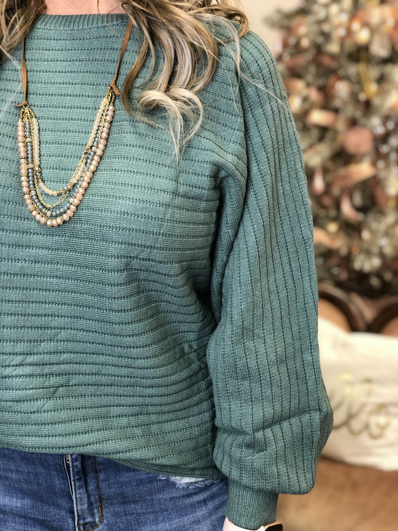 All The Lines Sage Sweater