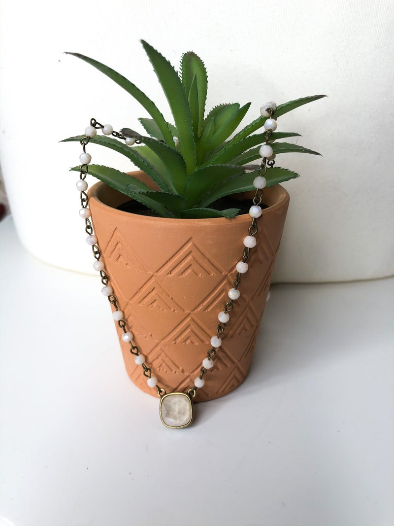PP Ivory Bead Necklace