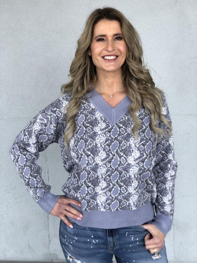 Periwinkle Striking Sweater