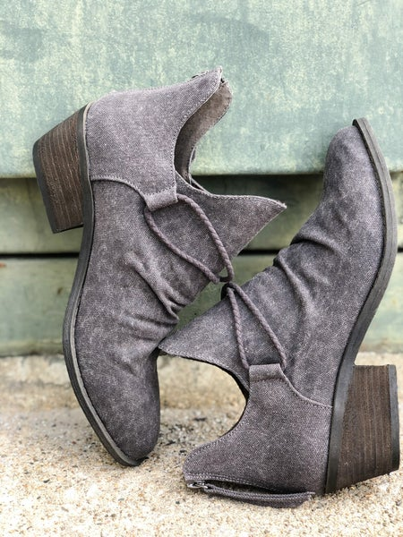 Spartan Grey Booties