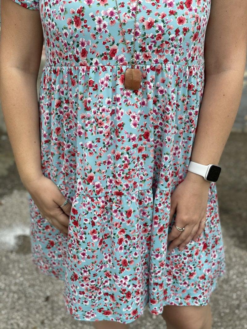 Meadows Floral Midi Dress