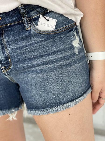 Judy Blue Demi Raw Hem Shorts 37DK
