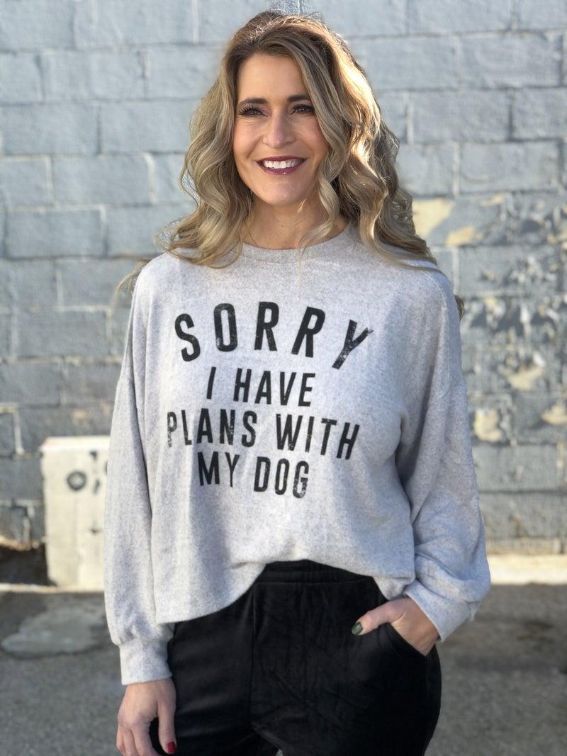 Dog Plans Top *Final Sale*