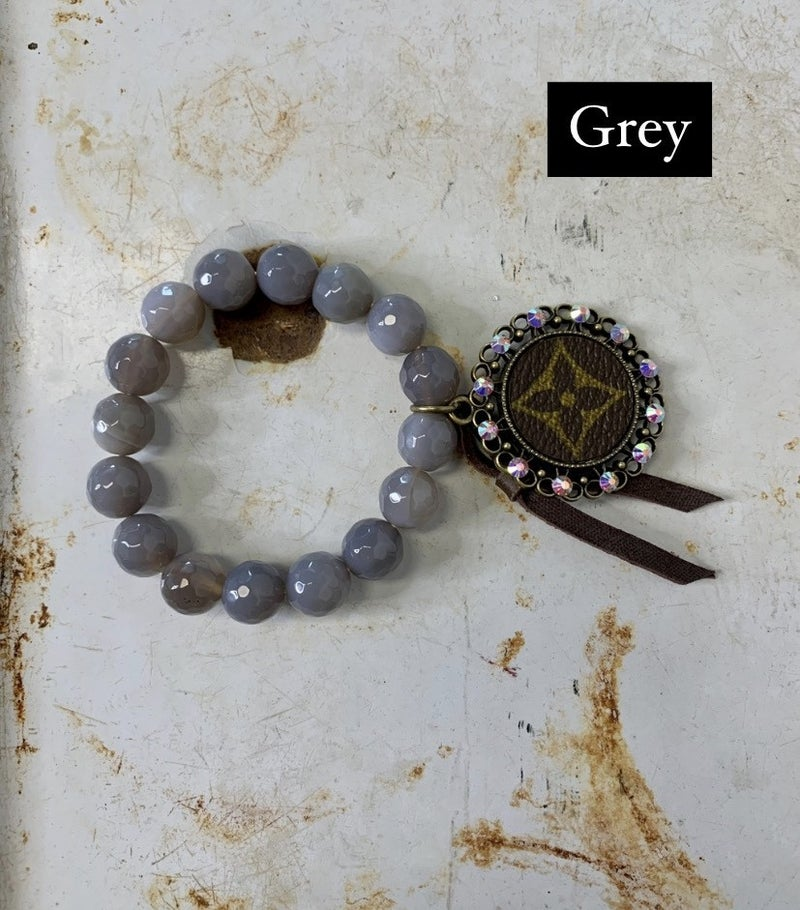 Upcycled Stretch Bracelet with Bling