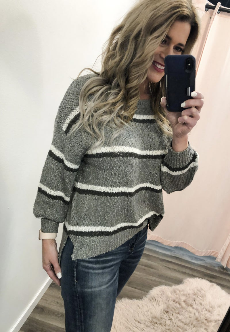 Painted Lines Sweater