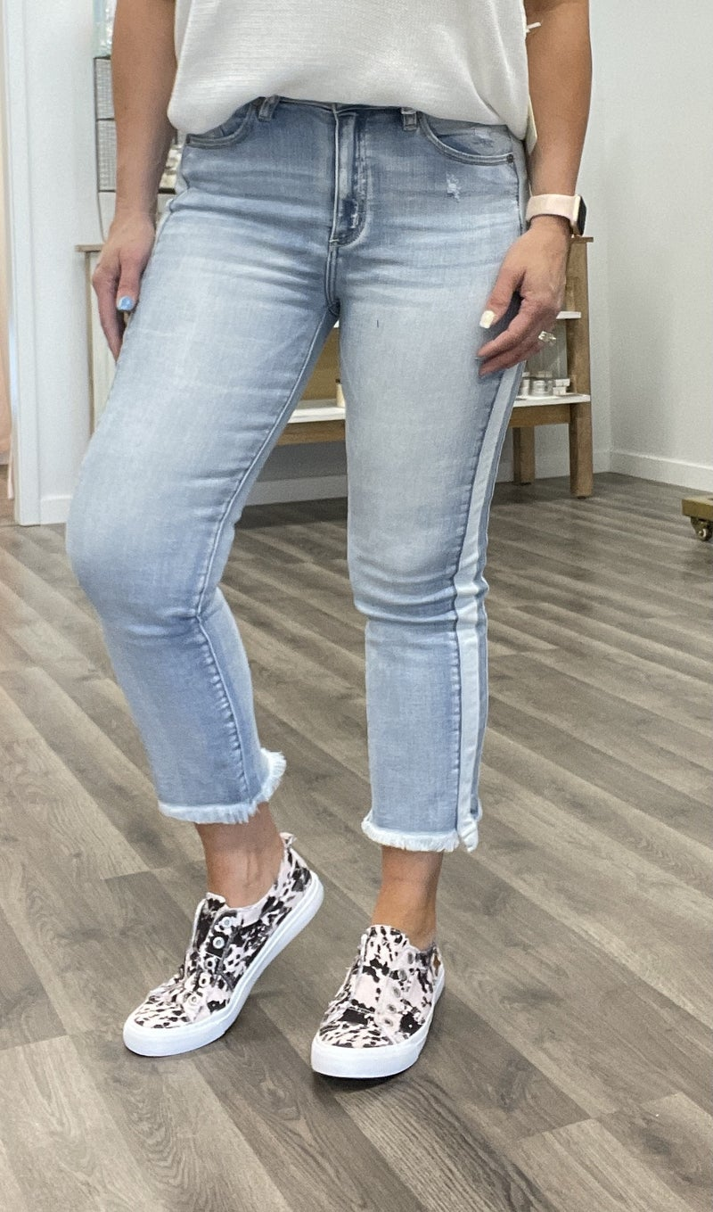 KanCan Panel Side Ankle Jeans 75M