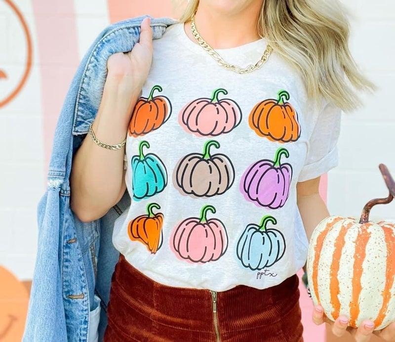 Colorful Pumpkin Tee