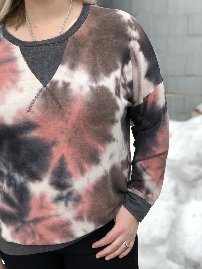 Curvy Muted Marbled Top