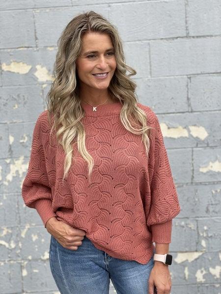 Scalloped Sunrise Sweater