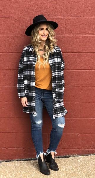 Jazzy Plaid Coat