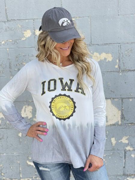 IOWA High-Line Dip Dye Long Sleeve Top