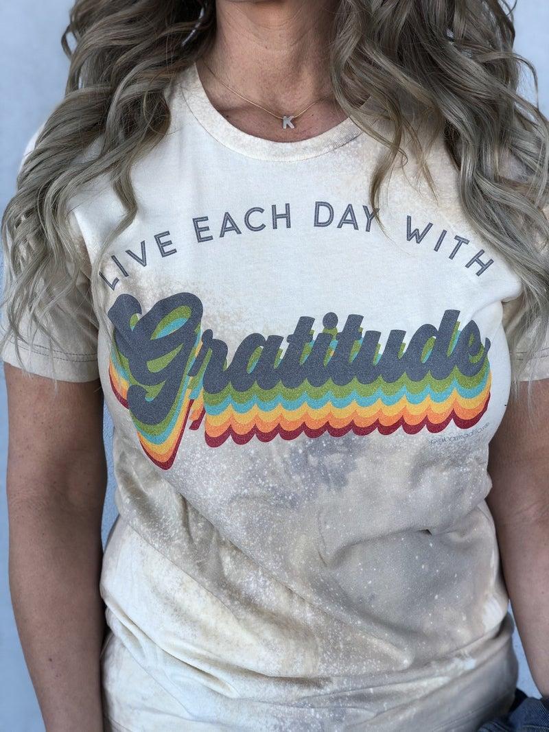Gratitude Bleach Tee *Final Sale*