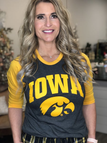 IOWA Golden Raglan Tee *Final Sale*