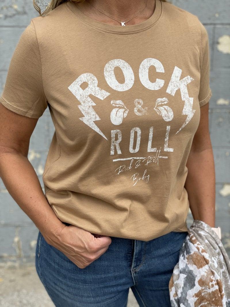 Coffee Rock & Roll  Graphic Tee
