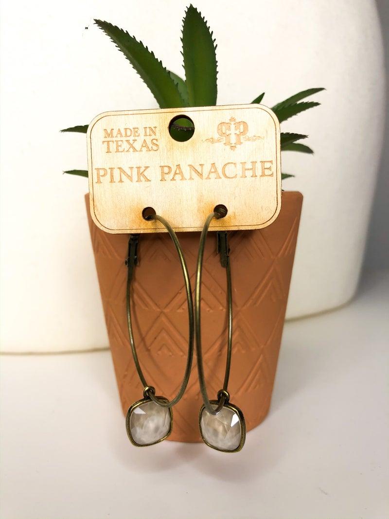 PP Ivory Hoop Earrings