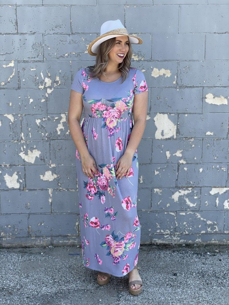 Floral Good Vibes Maxi Dress