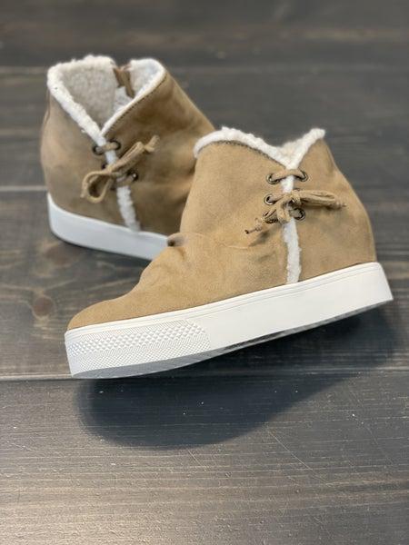 Very G Jayden Sherpa Taupe Sneaker