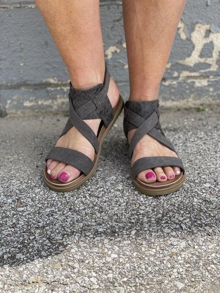 Jayla Charcoal Sandals