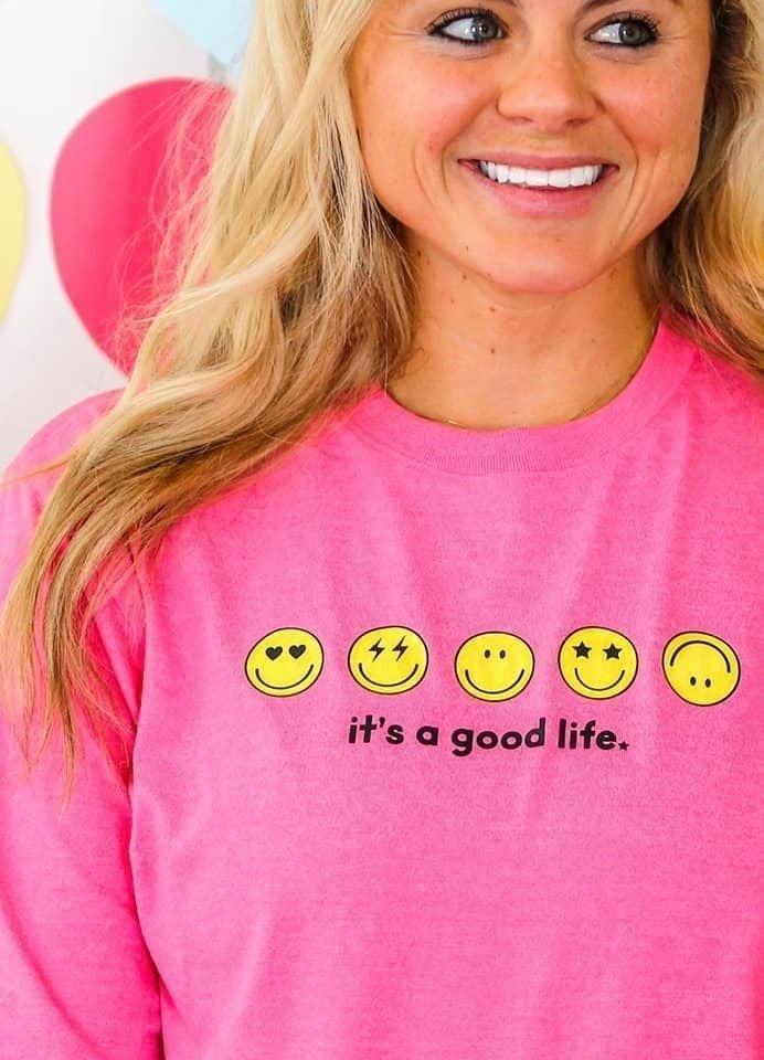 It's A Good Life Emoji Tee