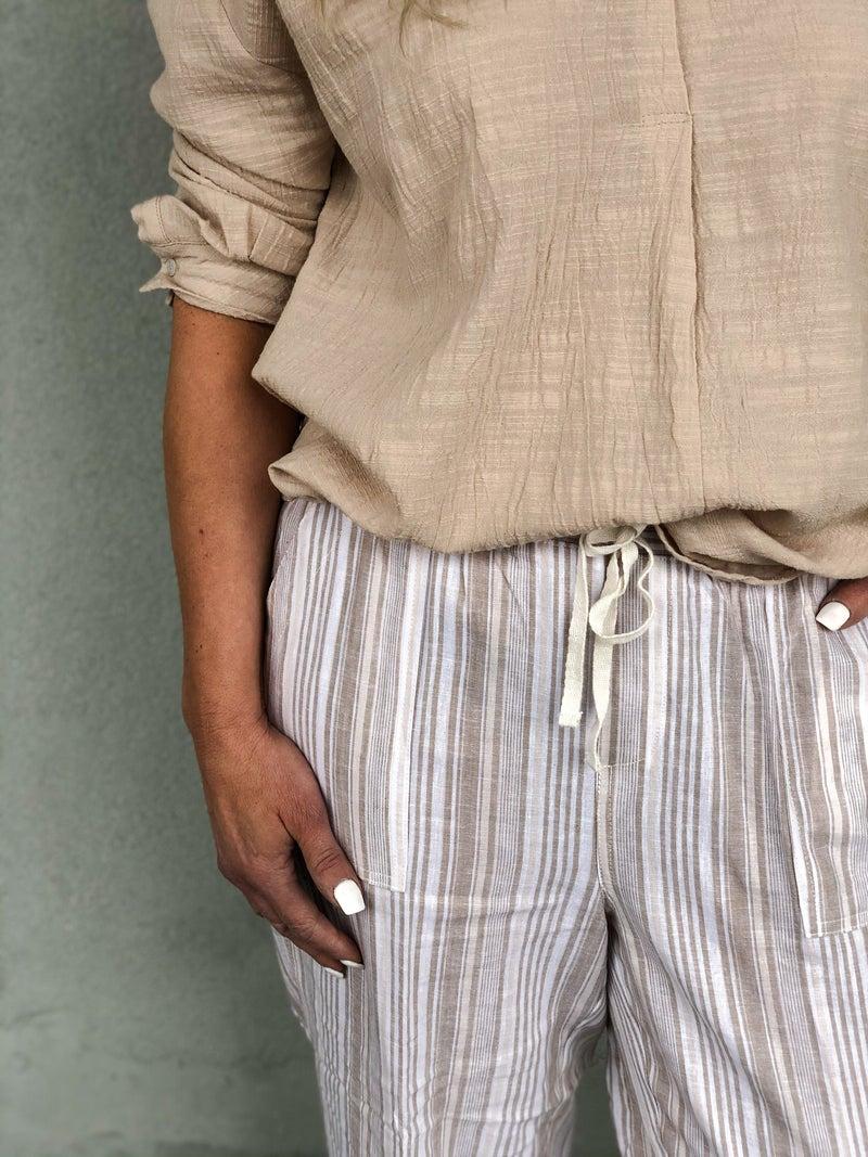 Excitement Stripe Crop Pants