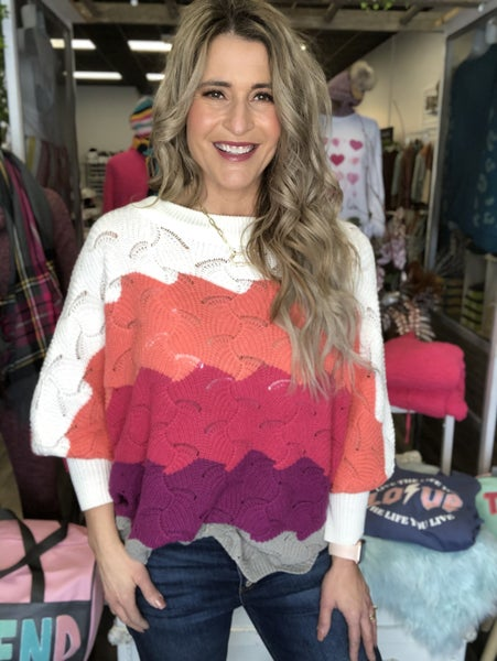 Scalloped Oceans Sweater