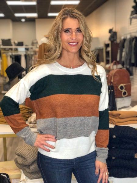 Sweet Stripes Of Fall Sweater