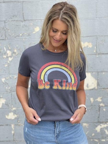 Be Kind  Rainbow Graphic Tee