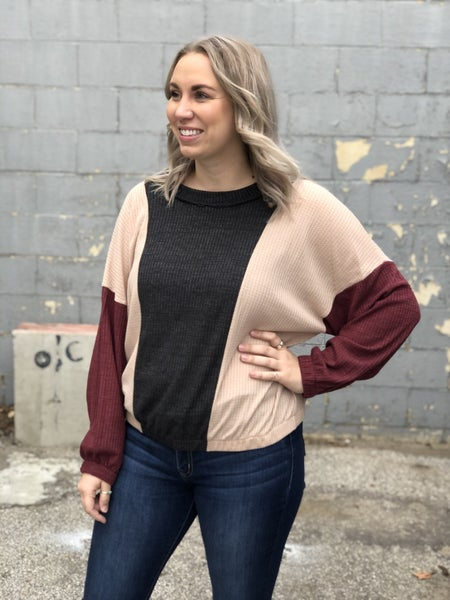 Curvy Samantha Color Block Top