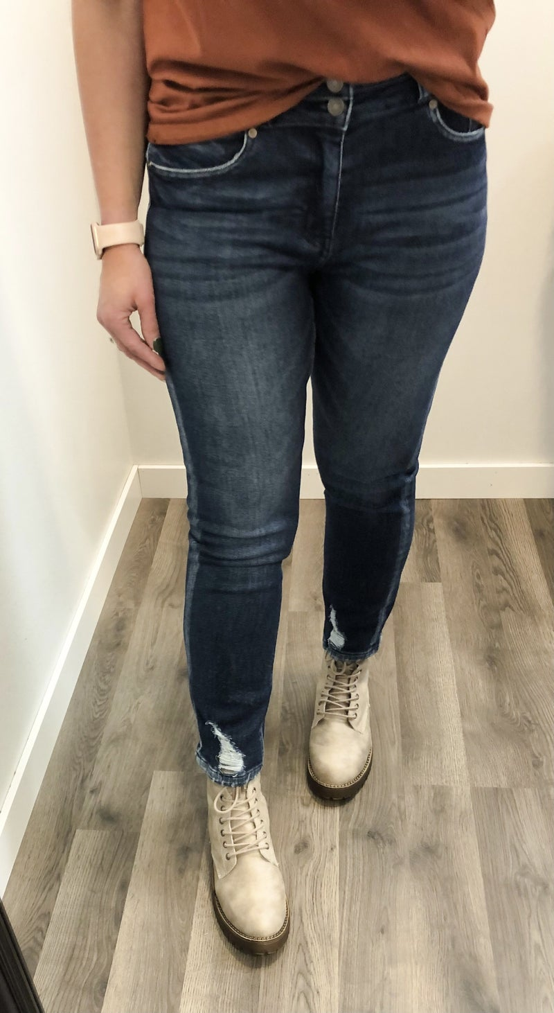 KanCan Steph High Rise Straight Ankle Jean 17D