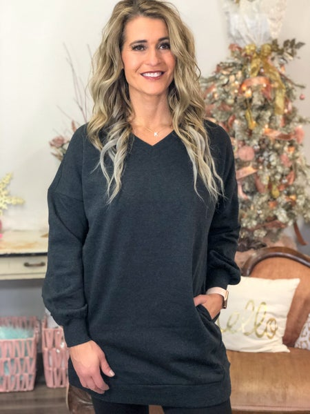 Newest Obsession Charcoal Sweatshirt *Final Sale*