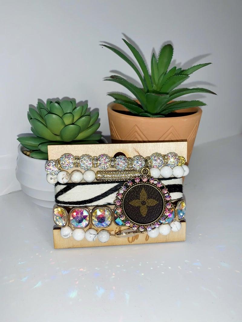 Upcycled Stretch Bracelet Set