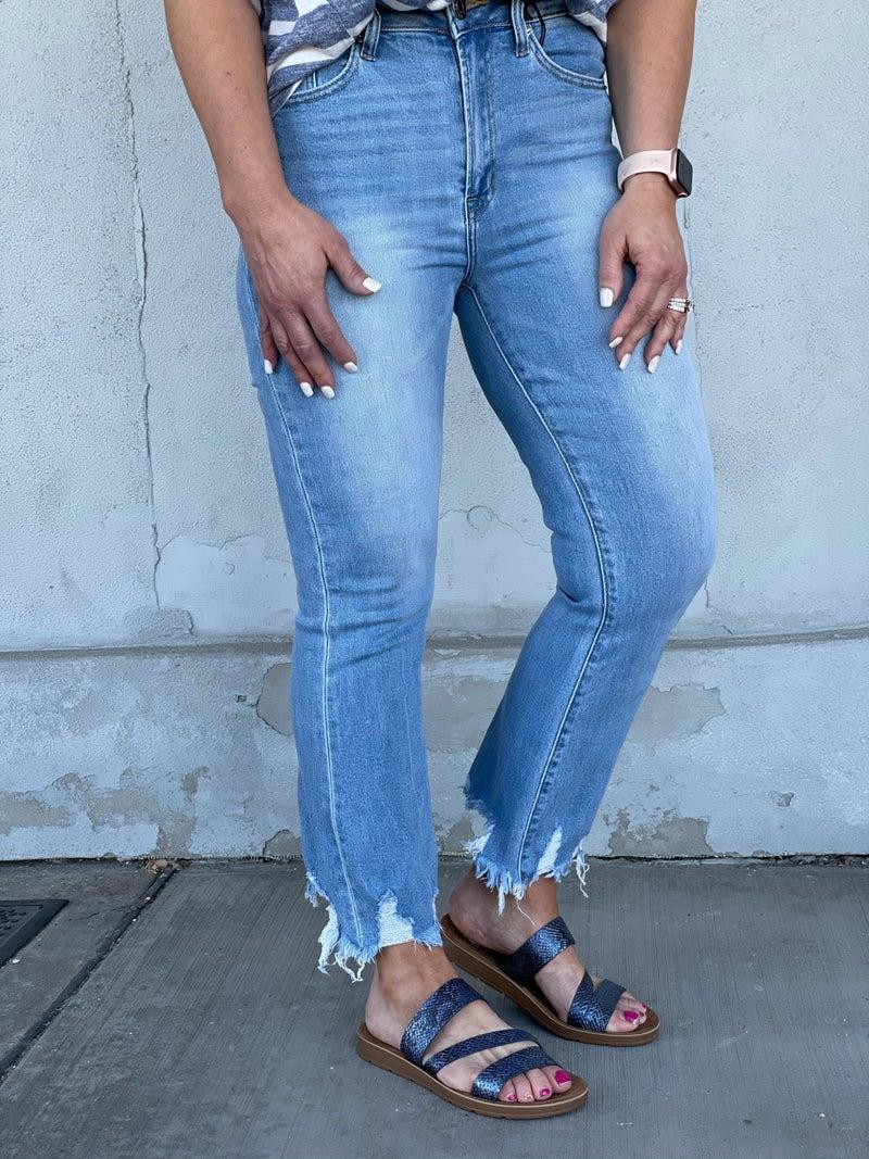 Risen Jodi Frayed Ankle Jean 59L
