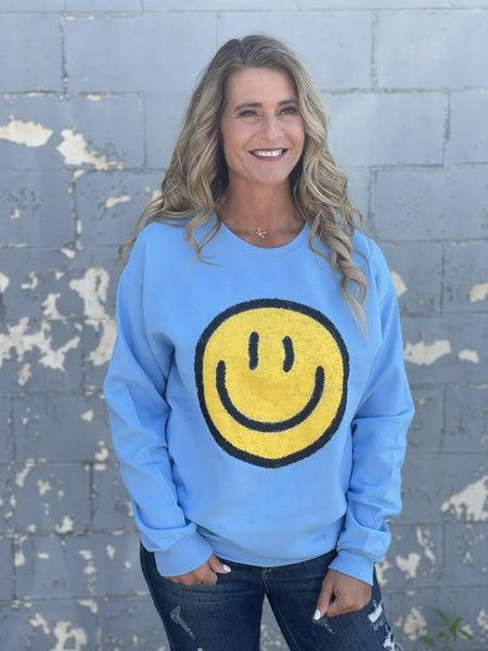 Smiley Blue Sweatshirt