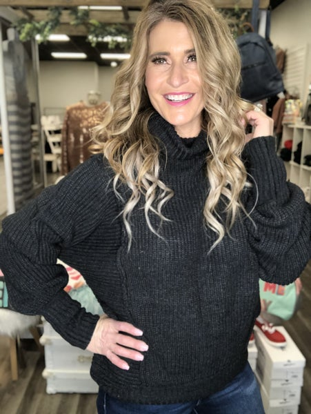 Simply Sweet Charcoal Sweater