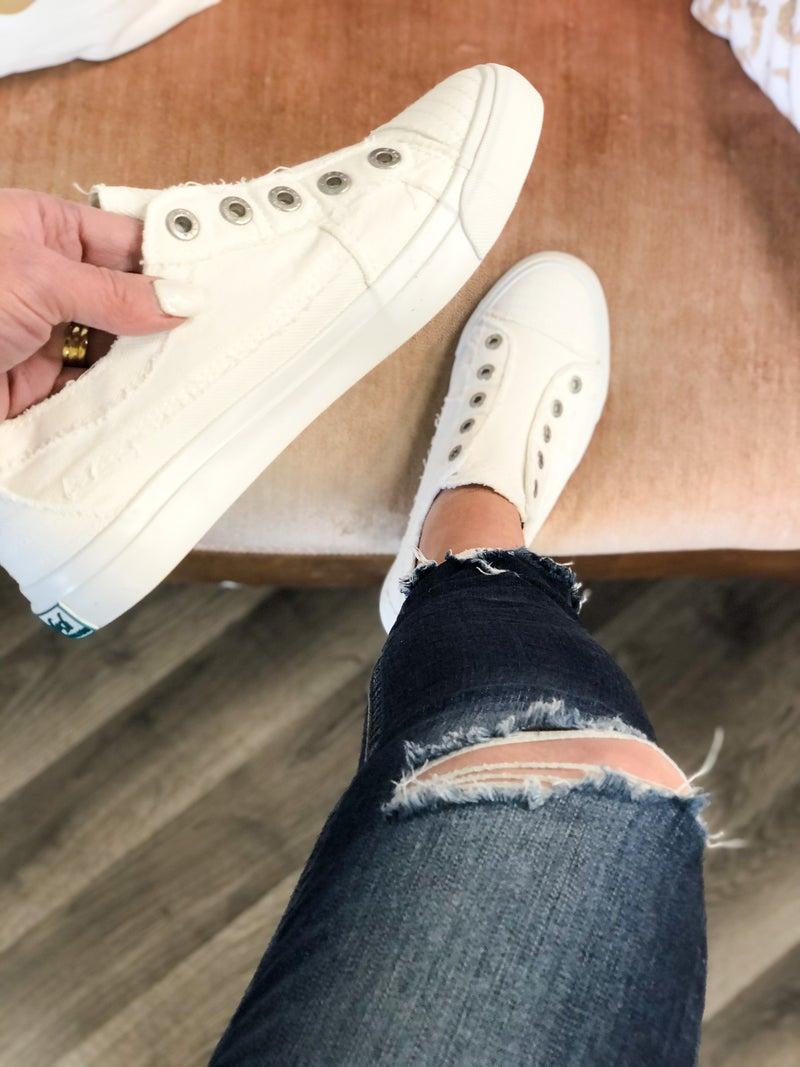 Blowfish Play White Sneakers *Final Sale*