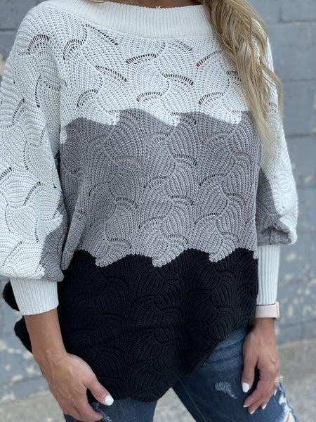 Scalloped  Moon Beam Sweater