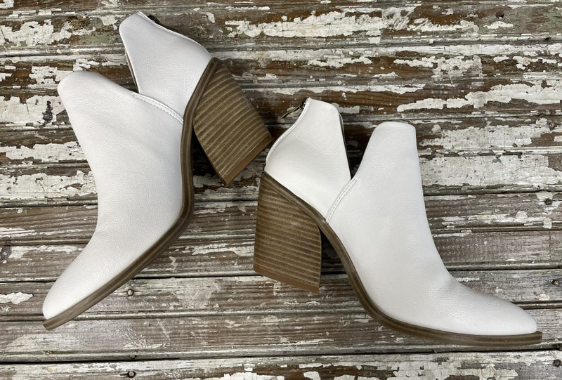 Super Fly White Booties
