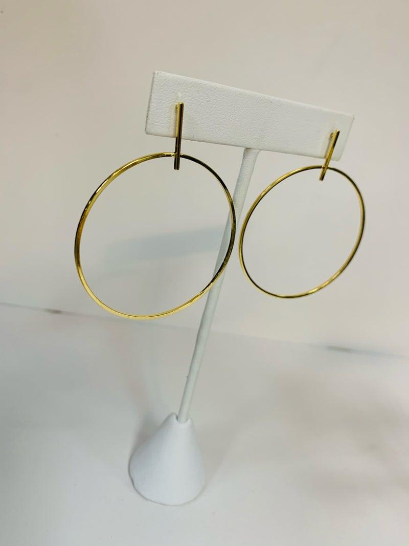 Large Drop Hoop Earrings
