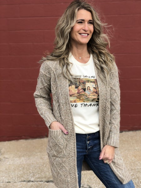 Forever In Love Oatmeal Cardigan