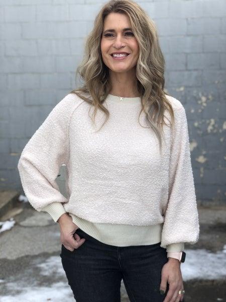 Cream Bits & Pieces Sweater Top