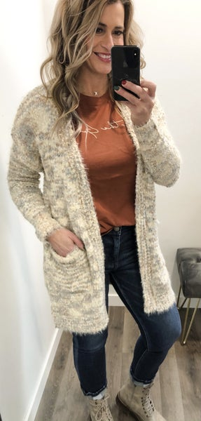 Speckles Of All The Neutrals Cardigan