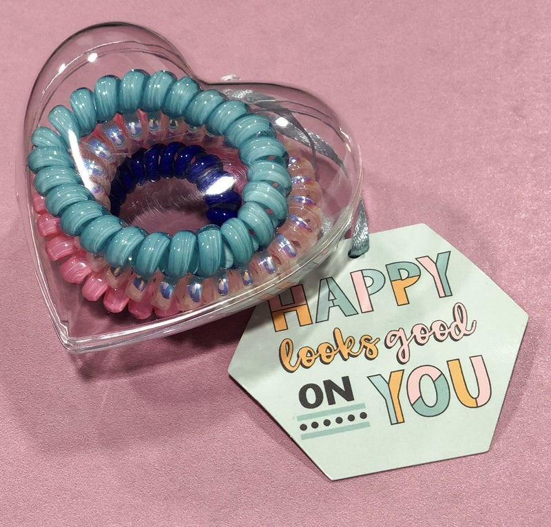 Heart Container Coil Hair Ties