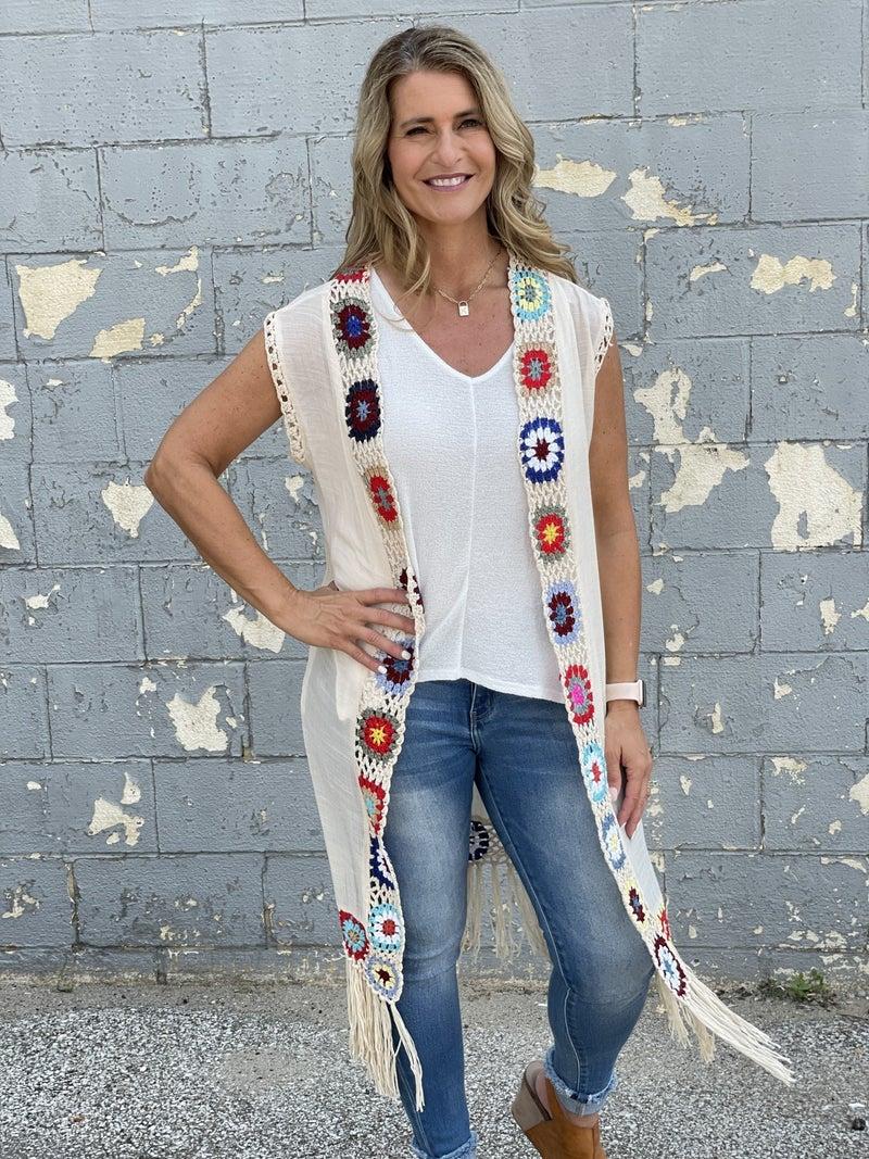 Peace Maker Kimono Vest *Final Sale*