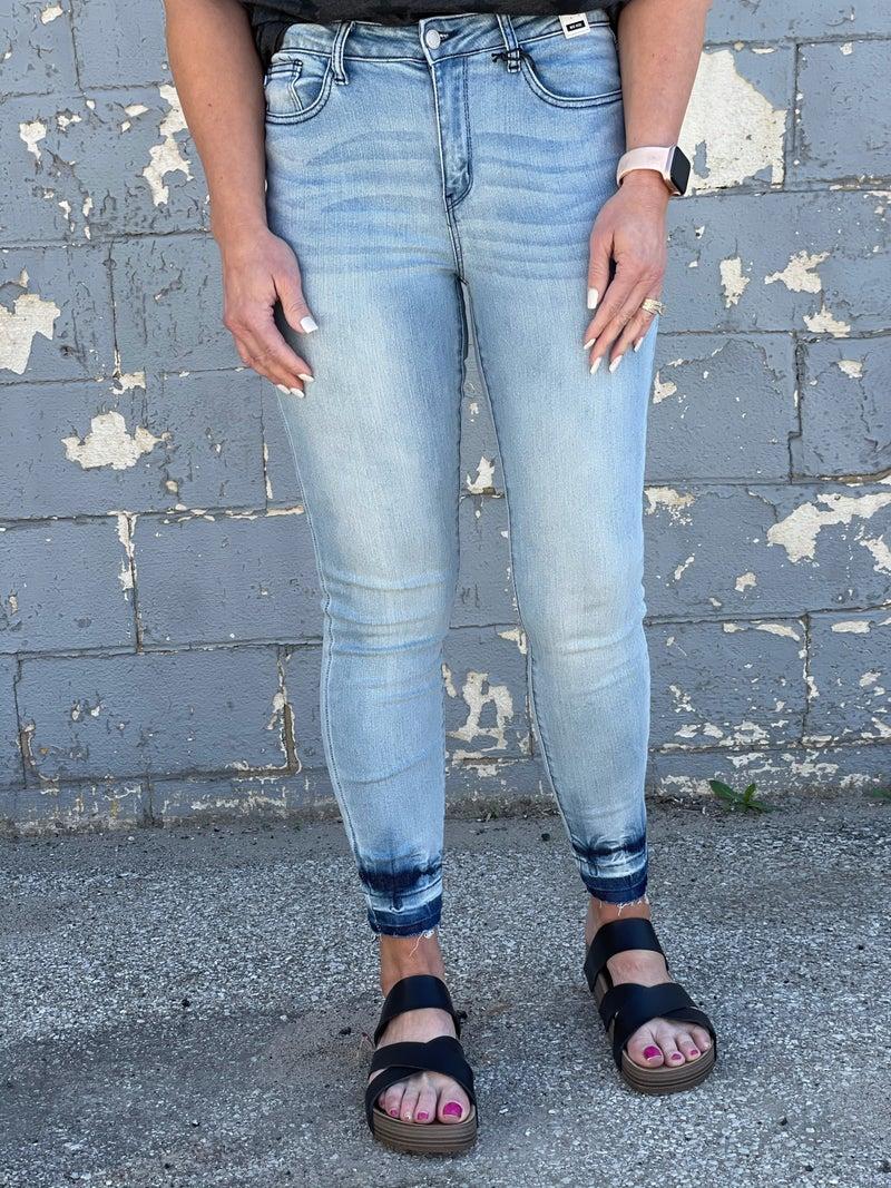 Judy Blue Maggie Splash Dye &  Release Hem Jeans 99R