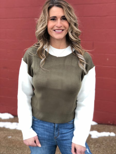 Olive Intentions Sweater