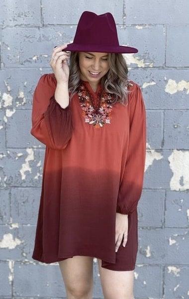 Ombre Dip Dye Floral Daze Dress