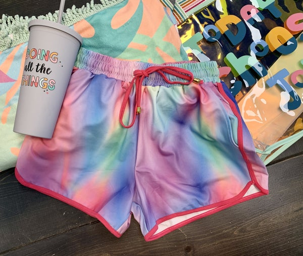 Color Blast Athletic Shorts