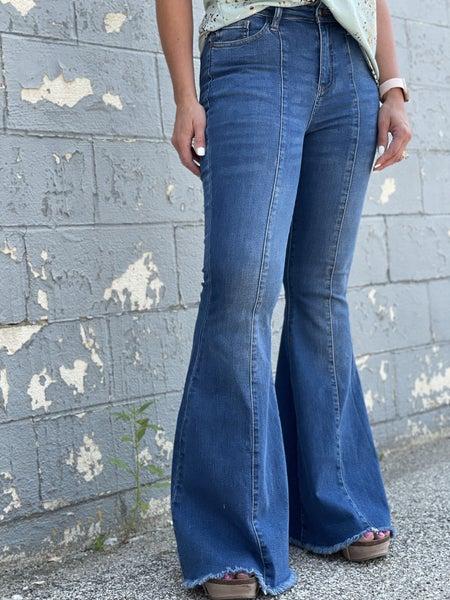 Judy Blue Megan Seamed Super Flare Jeans 04R