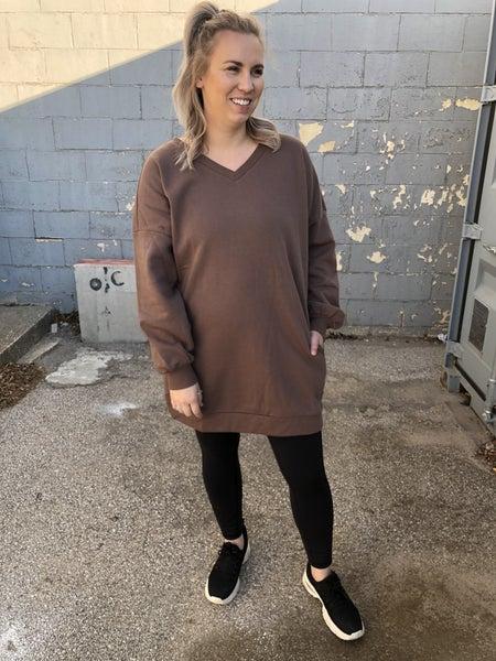 Curvy Newest Obsession Mocha Sweatshirt *Final Sale*