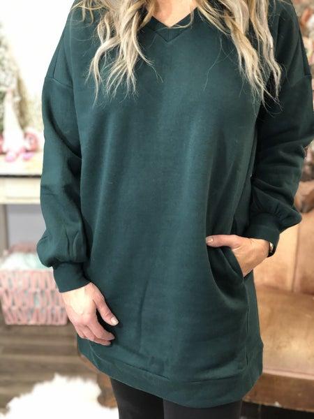 Newest Obsession Green Sweatshirt *Final Sale*